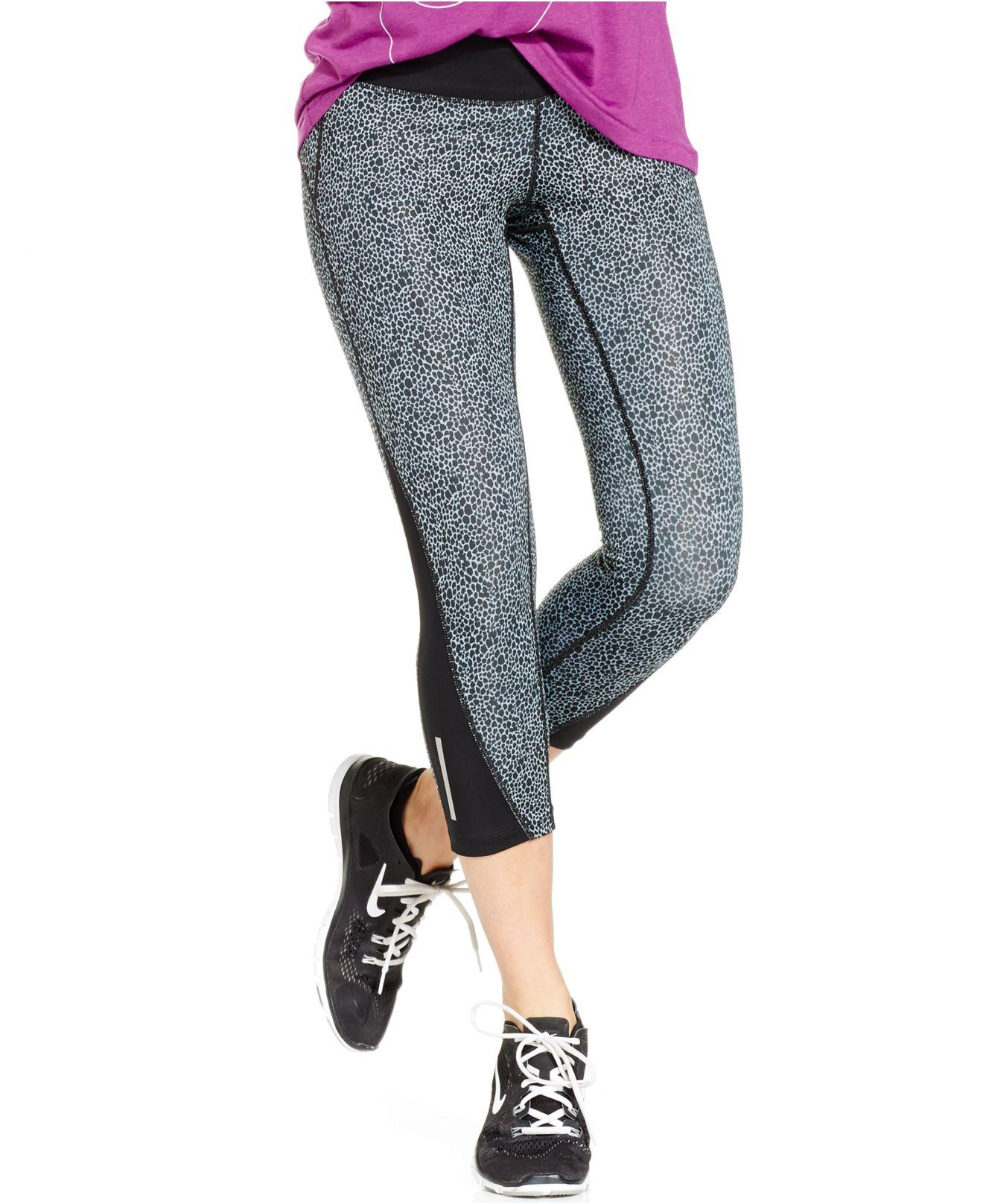 Nike Racer Printed Dri-fit Capri Leggings in Black | Lyst