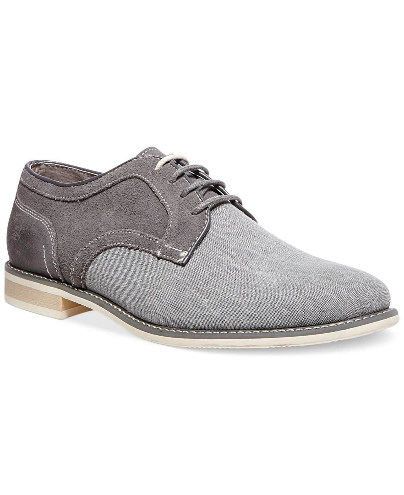 2cff71952cc Lyst - Steve Madden Sojourn Canvas Oxfords in Gray for Men