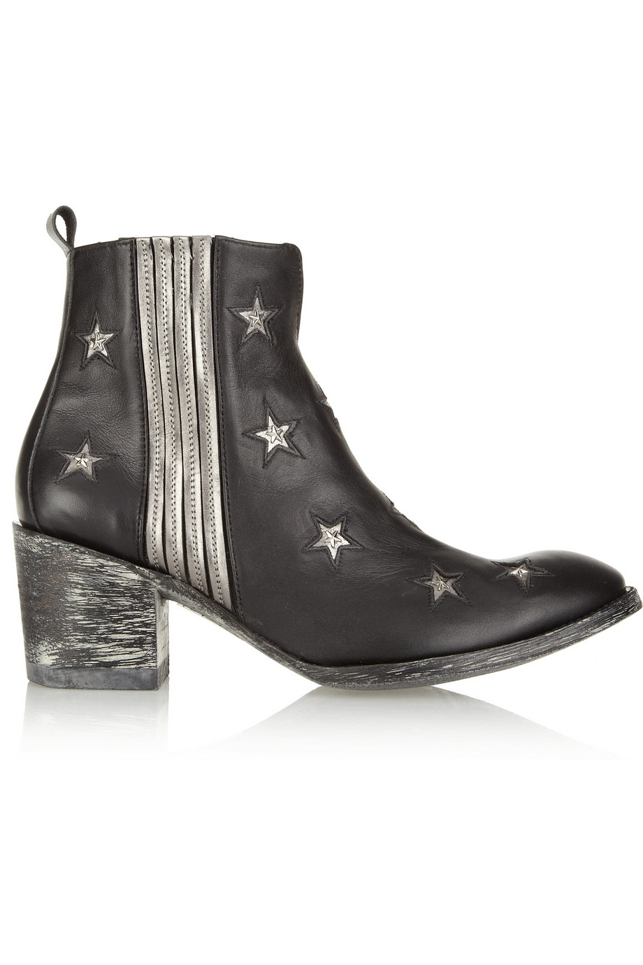 Lyst Mexicana Chiqui Star Studded Leather Ankle Boots In