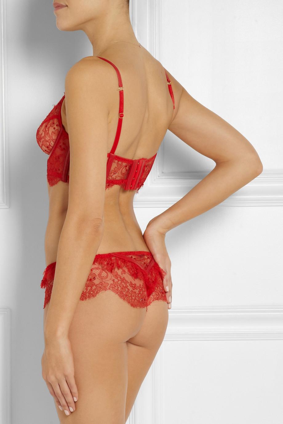 Agent provocateur Soirée Adara Embellished Stretch-Lace ...