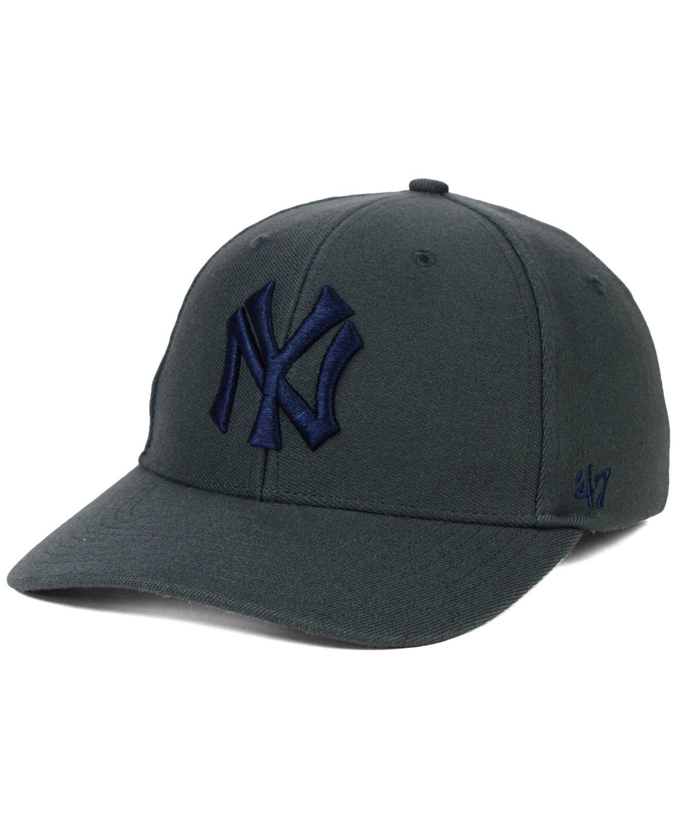 47 brand new york yankees contender cap in gray for men lyst. Black Bedroom Furniture Sets. Home Design Ideas