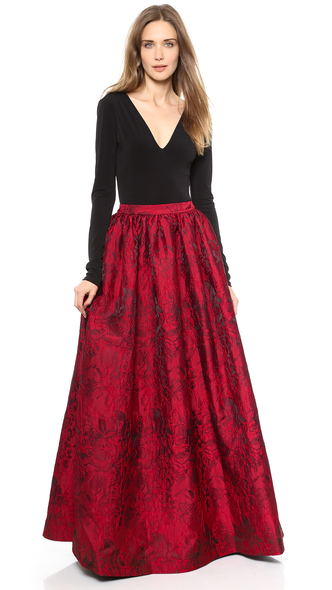 Lyst - Alice + Olivia Alice + Olivia Ball Gown Skirt - Royal Red in Red