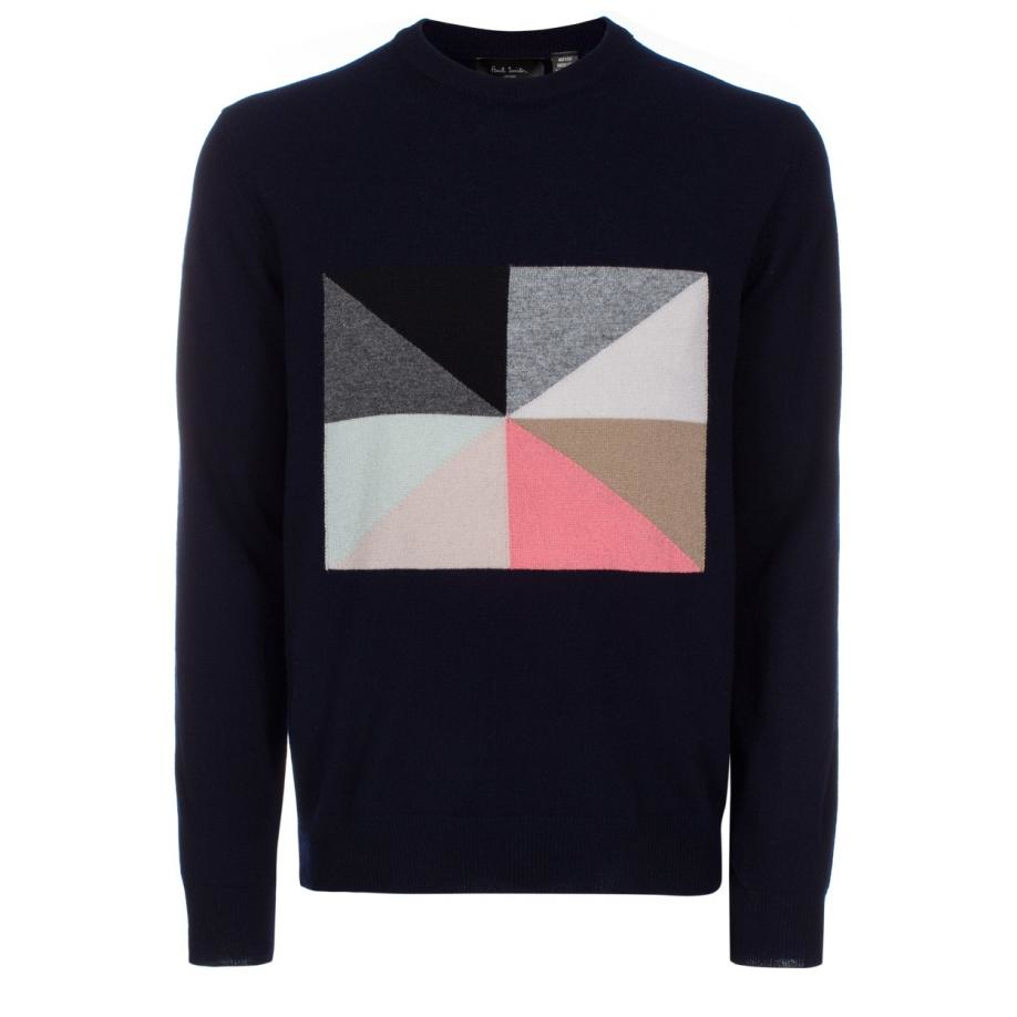 Lyst - Paul Smith Men\'s Navy Flag Intarsia Cashmere Sweater in Blue ...