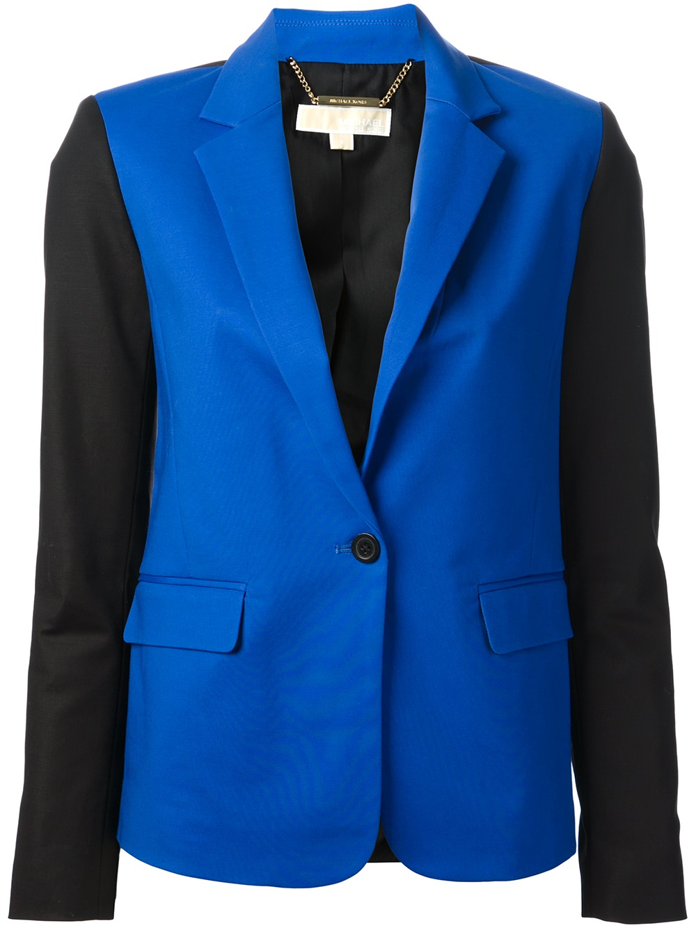 michael michael kors twotone blazer in blue lyst. Black Bedroom Furniture Sets. Home Design Ideas