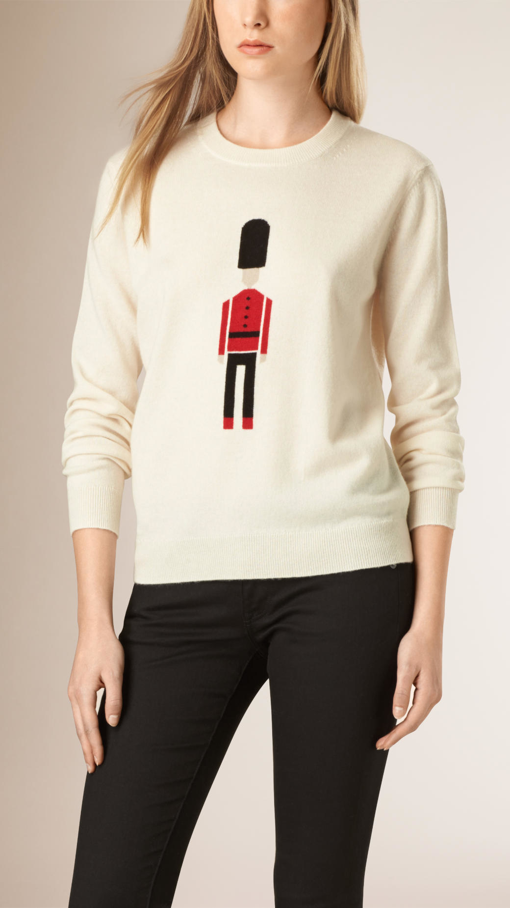 Burberry The Guardsman Wool Cashmere Sweater Natural White in ...