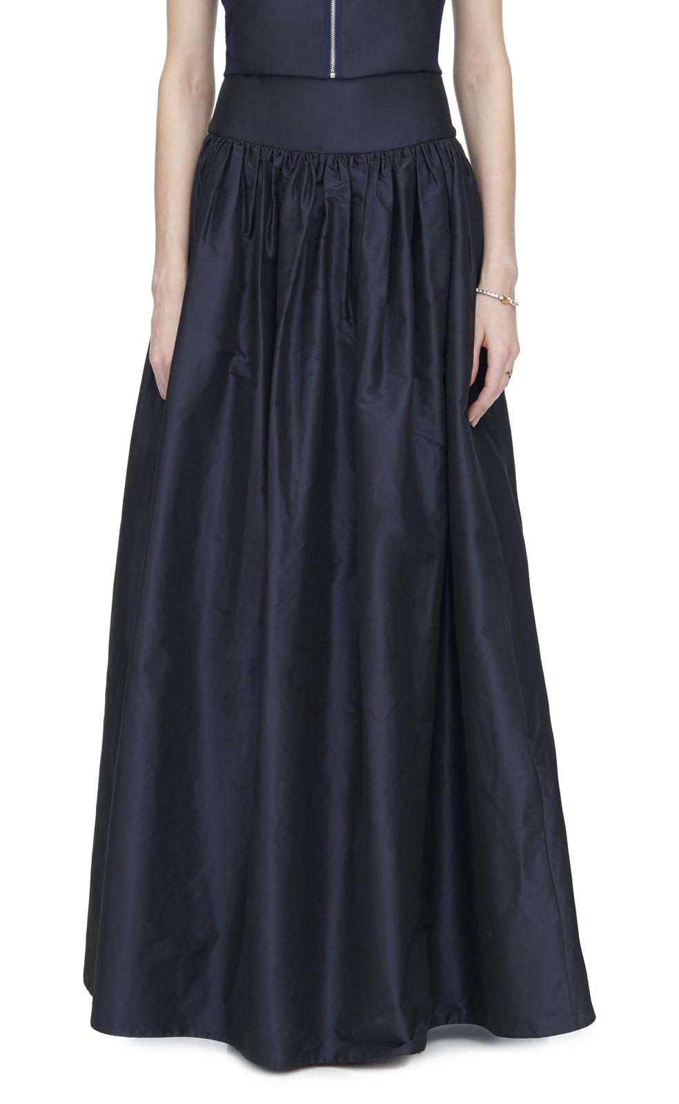 silk taffeta skirt in blue lyst