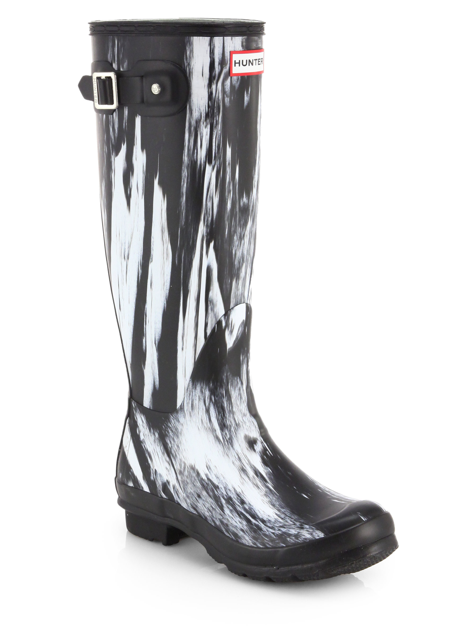 Hunter Original Night Rain Boots in Black | Lyst