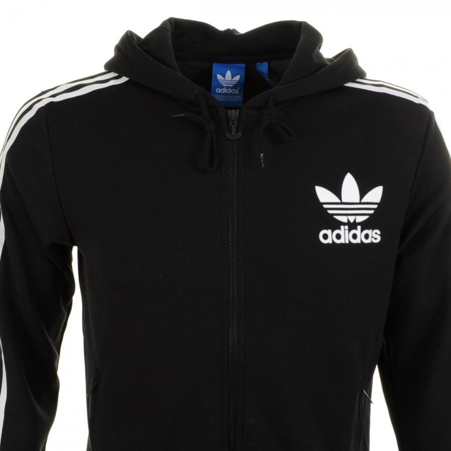 8658da0d82 Lyst - adidas Originals Spo Hooded Flock Jumper in Black for Men