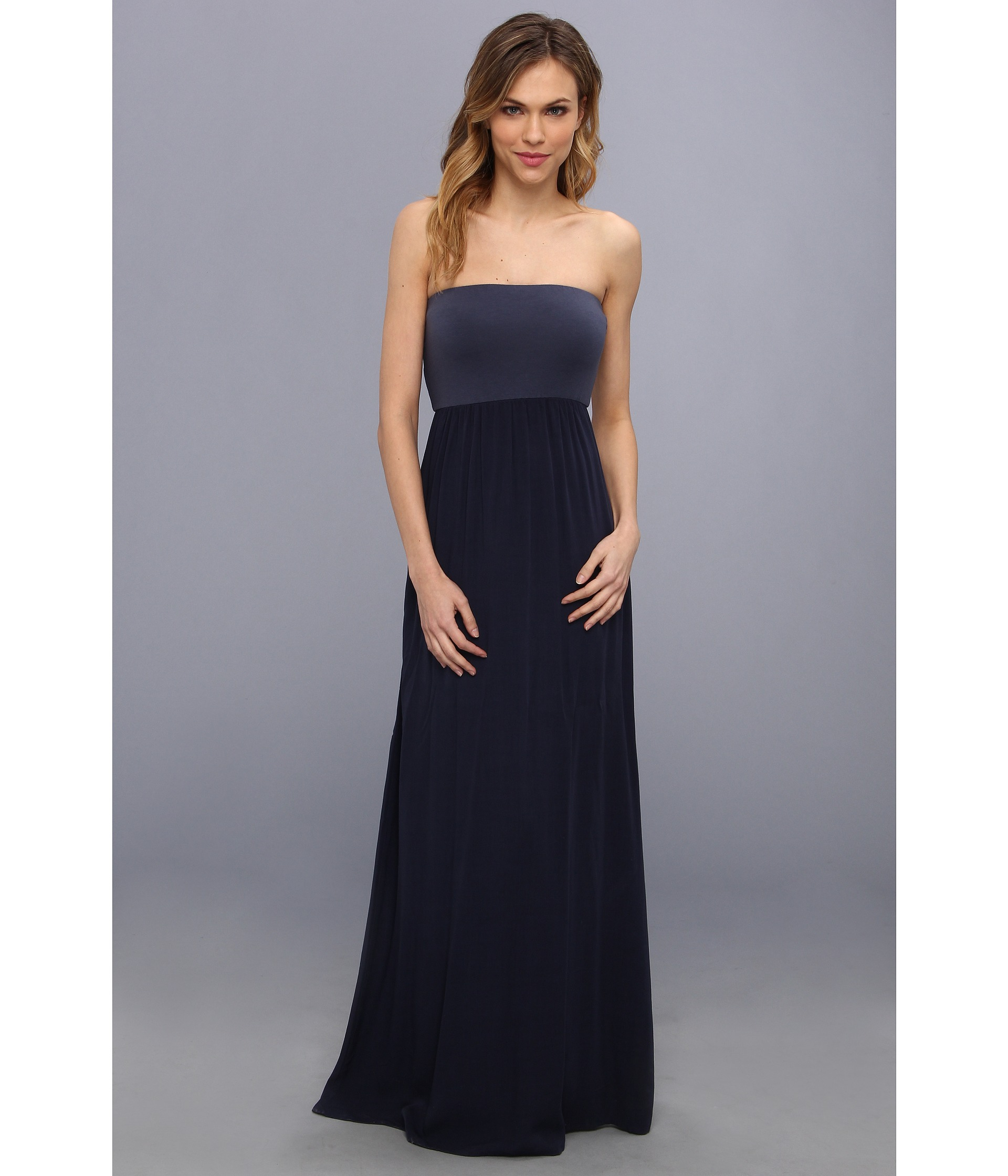 Splendid Tube Top Maxi Dress in Blue - Lyst