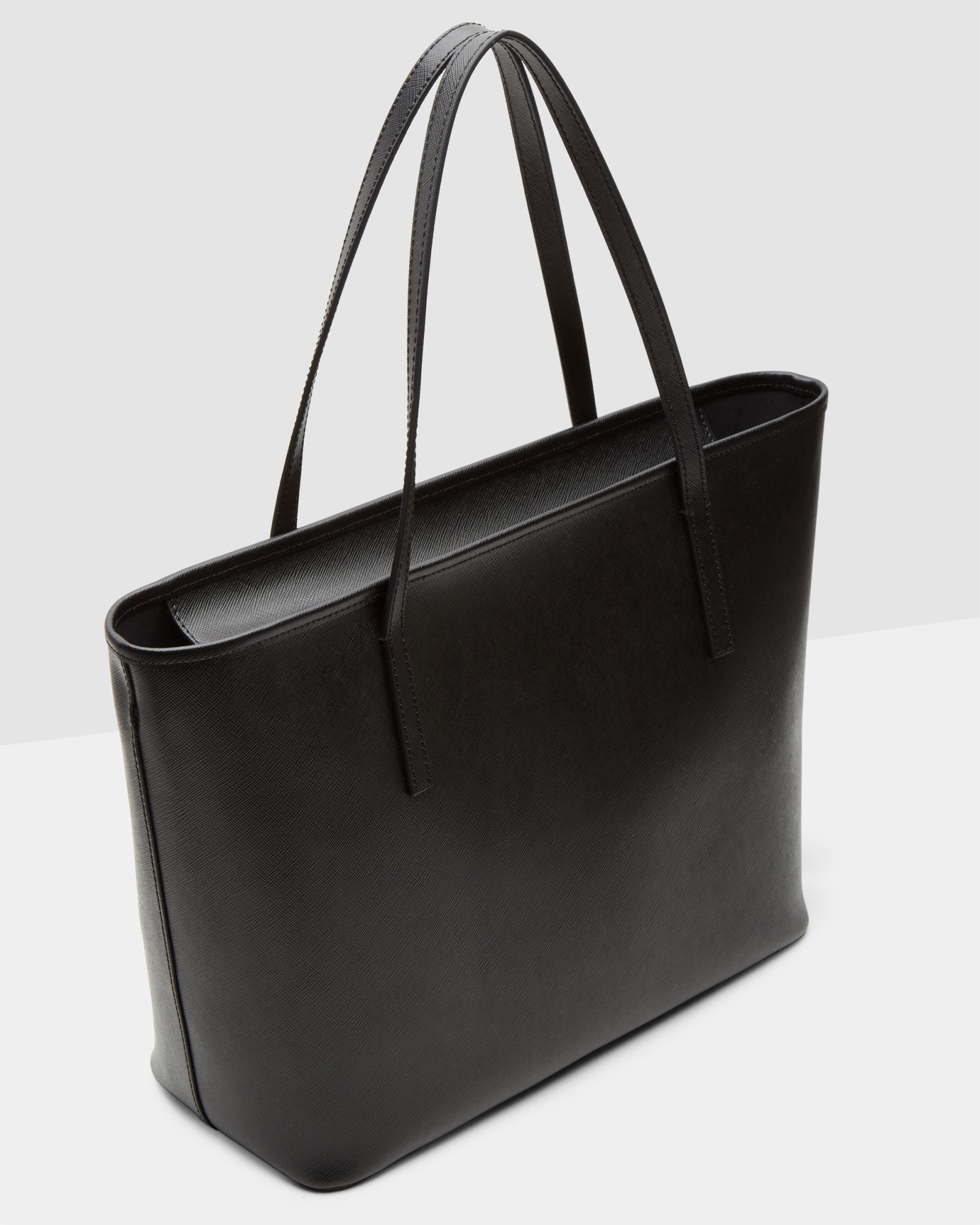 3a94e17119 Ted Baker Bow Detail Leather Large Shopper in Black - Lyst