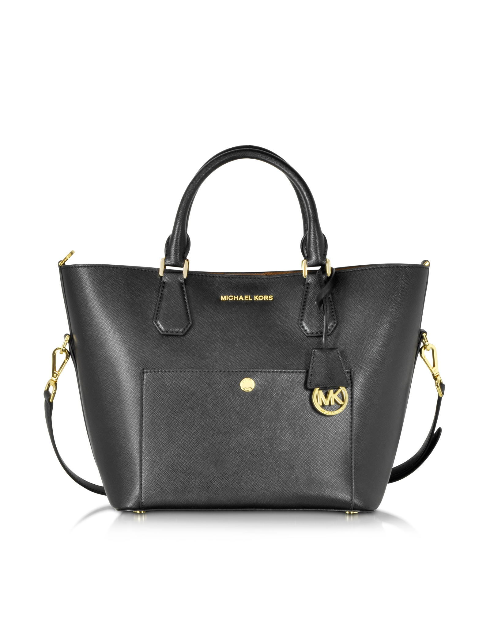 a947f6580f Lyst - Michael Kors Greenwich Large Saffiano Leather Satchel in Black
