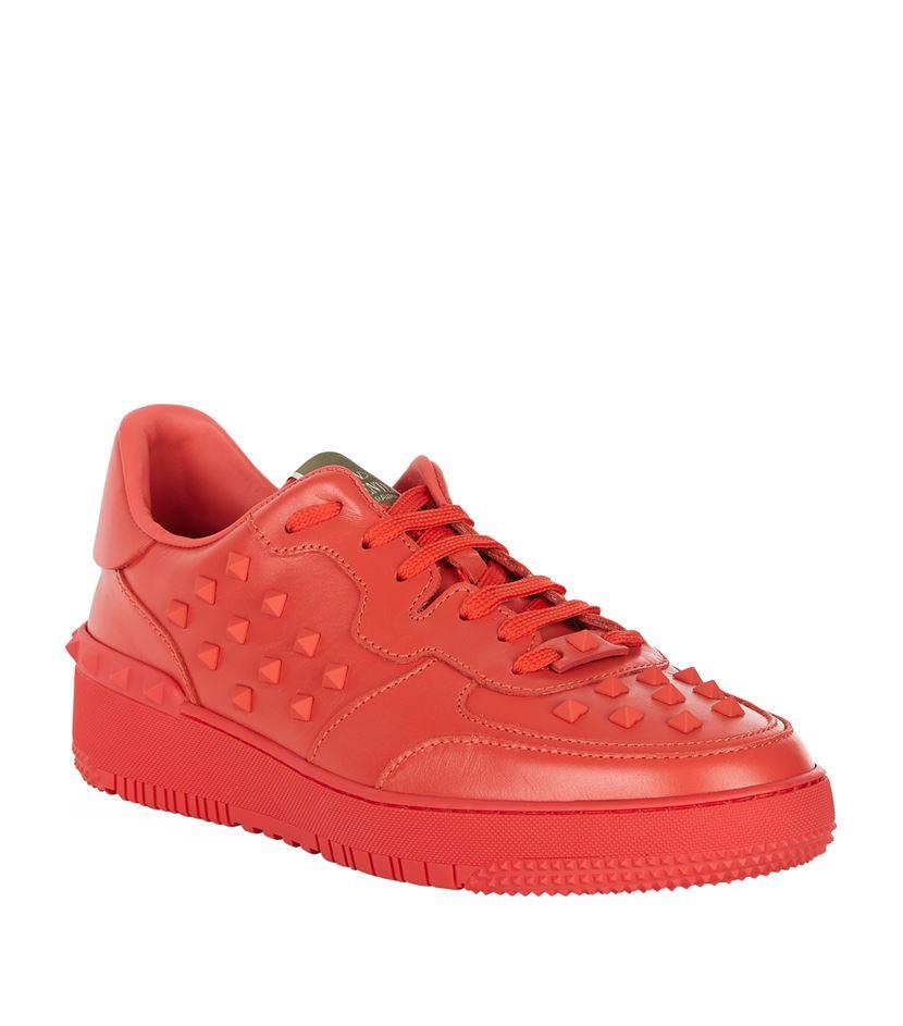 nike shox vc iii all star - Valentino 'rockstud' Sneakers in Orange for Men | Lyst