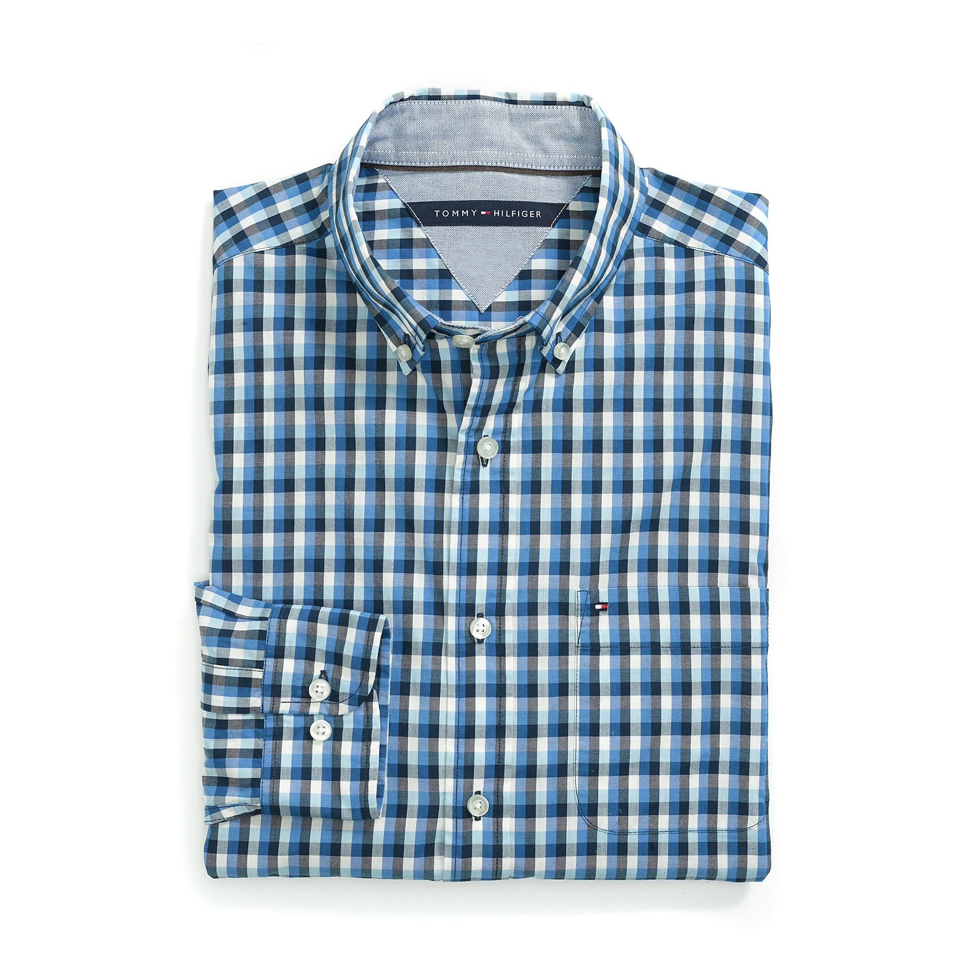 Tommy Hilfiger Blue Classic Fit Gingham Shirt For Men Lyst