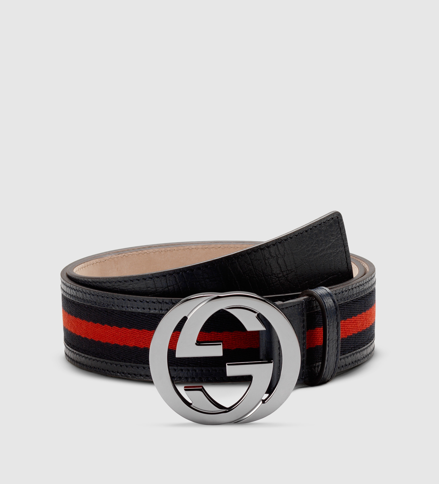 7f9a8b5b1dac Gucci Signature Web Belt With Interlocking G Buckle in Black for Men ...