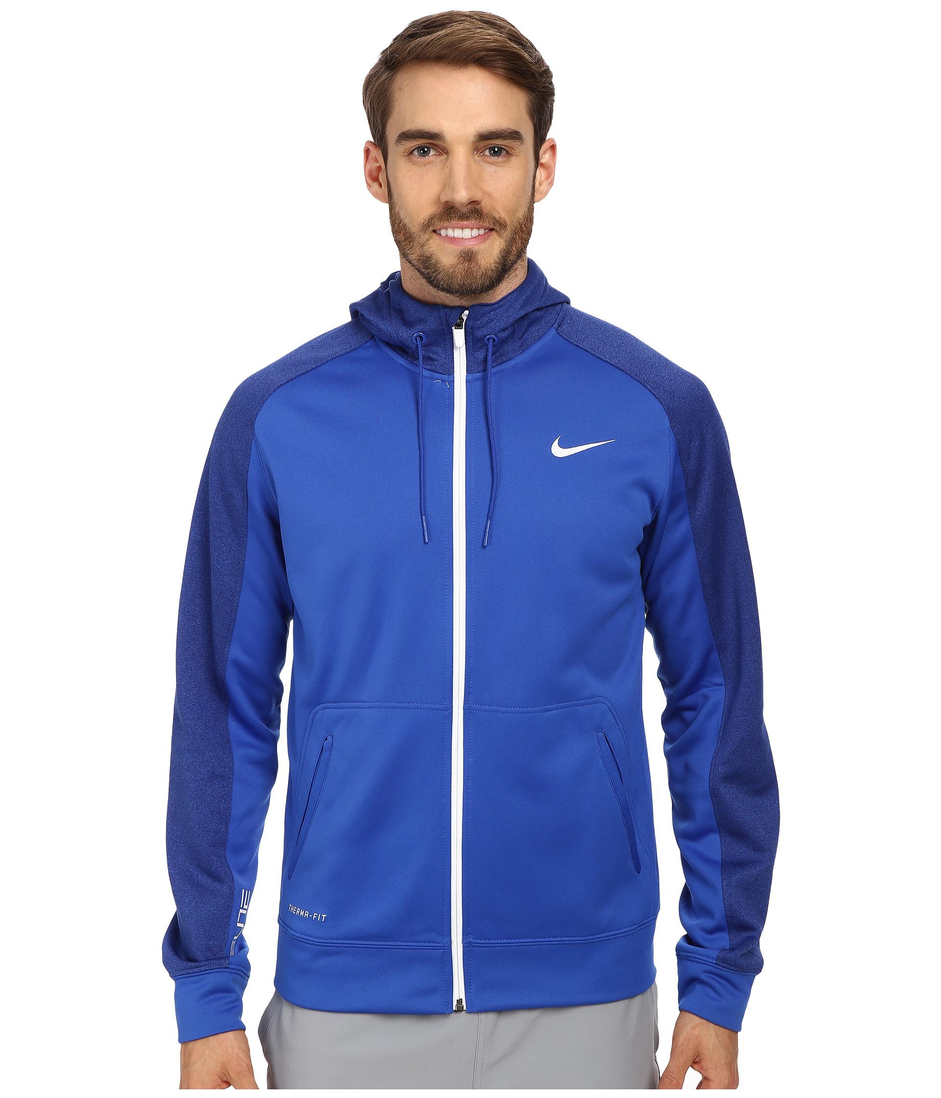 Nike Elite Stripe Full-Zip Performance Fleece Hoodie in Blue for ...