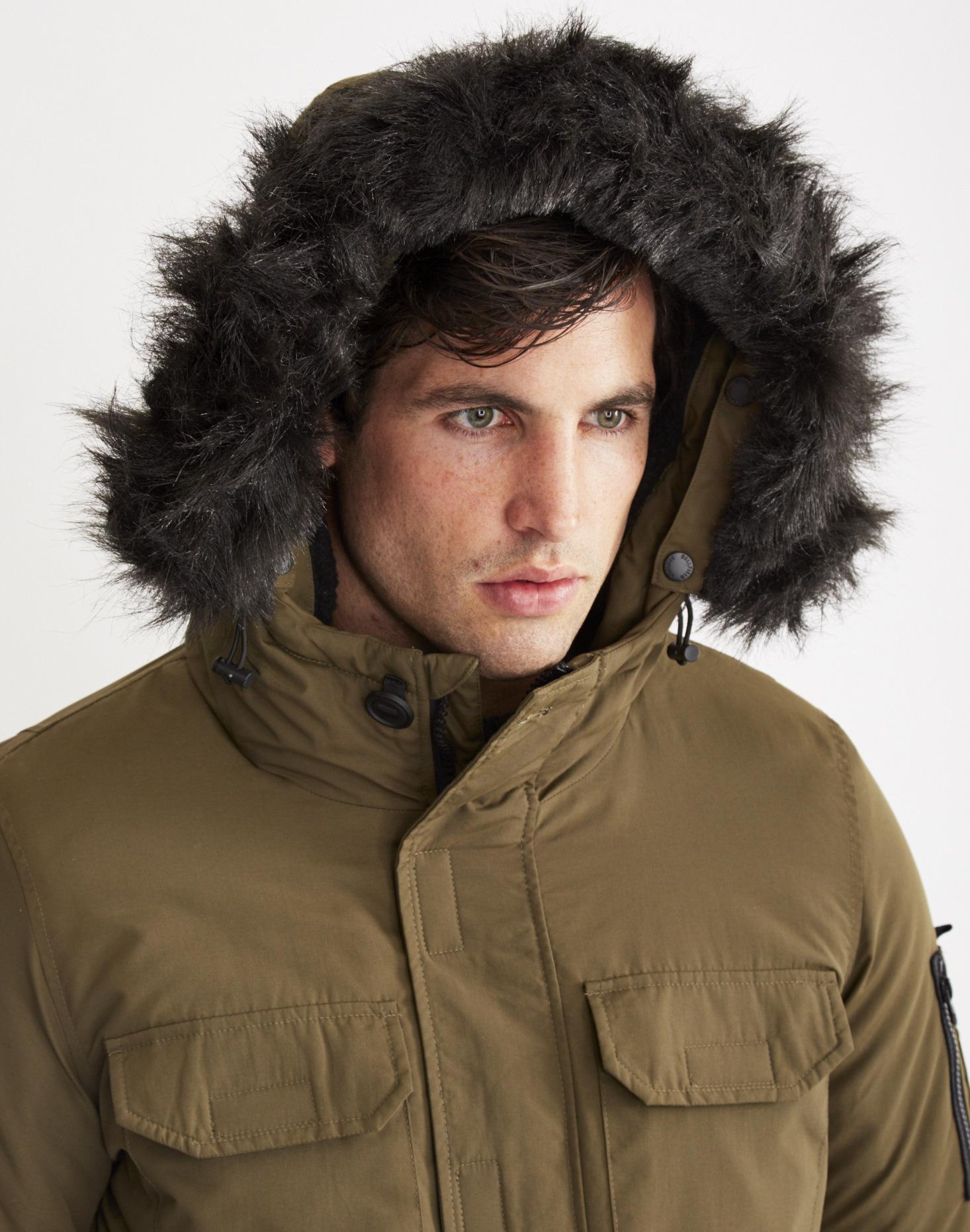 e489a15b4776b Bellfield Nimrod Fur-Trimmed Parka Jacket in Natural for Men - Lyst