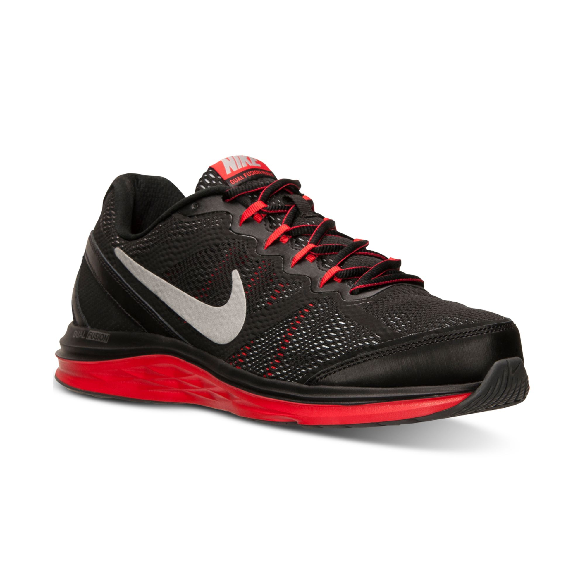 nike mens dual fusion run 3 running sneakers from finish line in gray for men drk gry mtllc. Black Bedroom Furniture Sets. Home Design Ideas