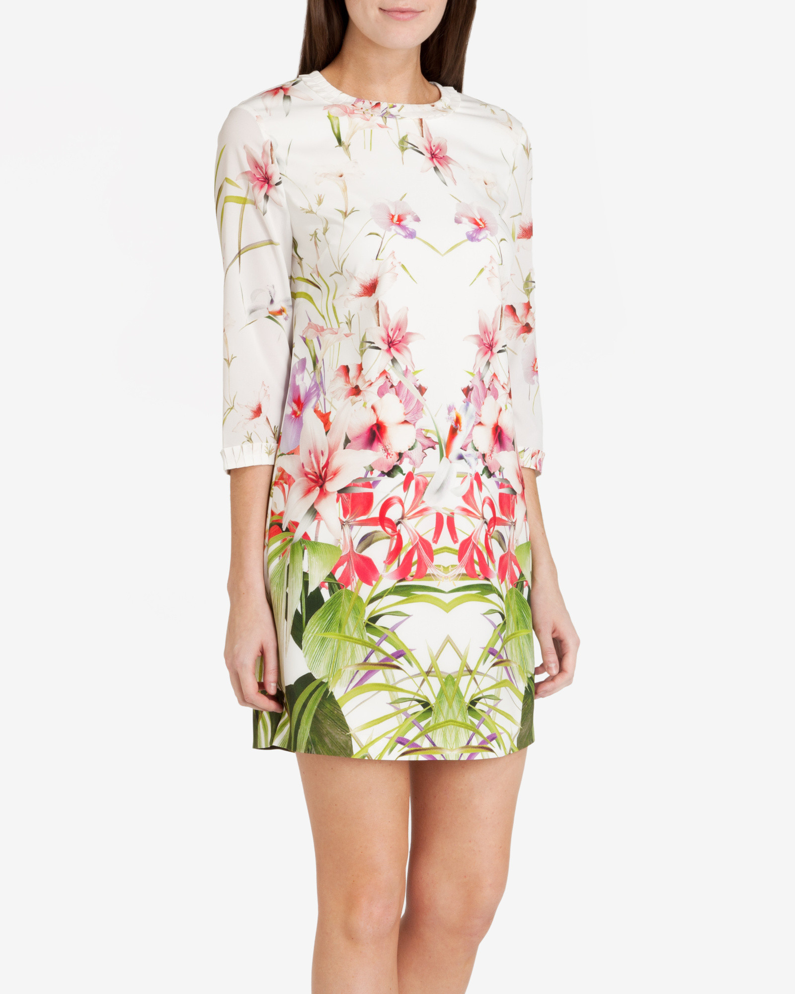 e0d33cdb2 Lyst - Ted Baker Mirrored Tropics Tunic Dress in White