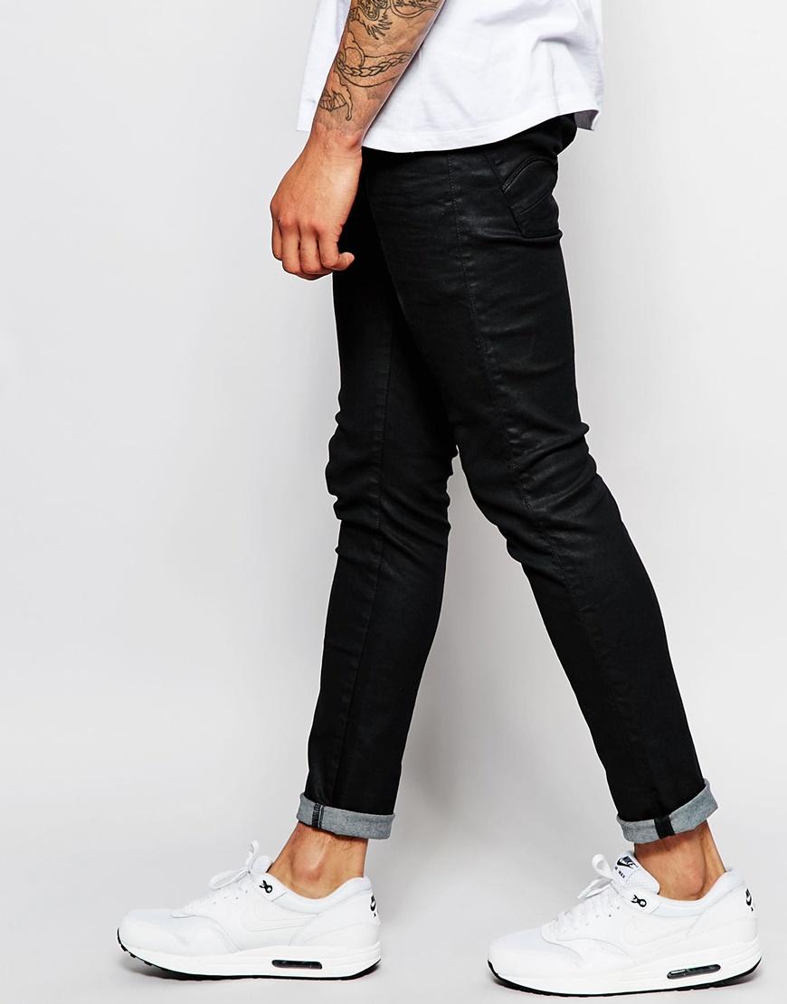 PLUS 5620 3D Zip Knee Super Slim Jeans Black - Rinsed G-Star DLoX7u