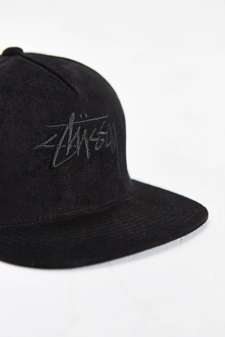 Lyst - Stussy Stock Suede Snapback Hat in Black for Men d7a8e6c2531