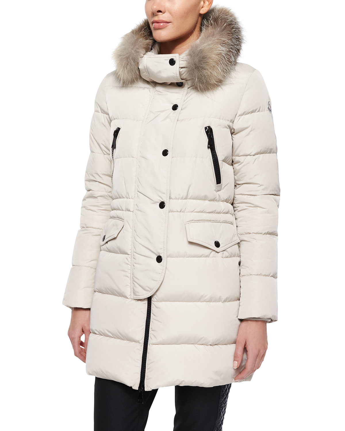 61440fcee closeout moncler coat khloe white a6771 2fb07