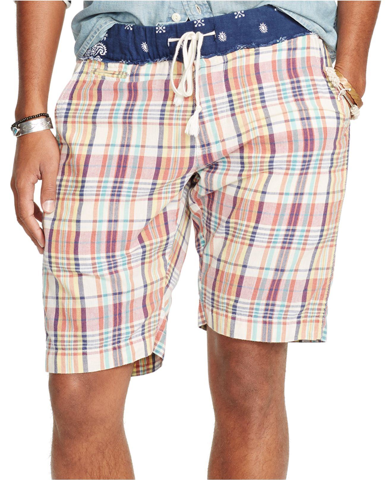 29f967f90 Denim   Supply Ralph Lauren Madras Shorts for Men - Lyst
