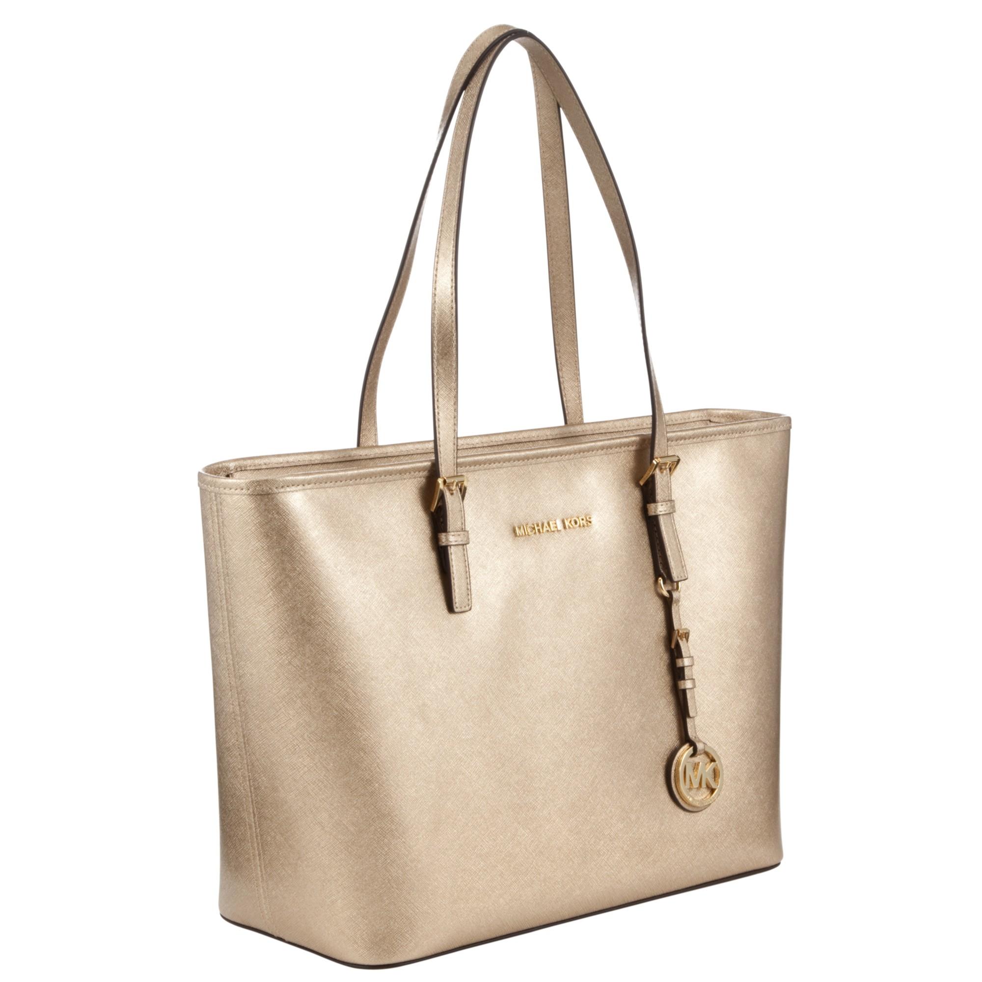 815917dc24b8e MICHAEL Michael Kors Jet Set Travel Saffiano Leather Tote Bag in ...