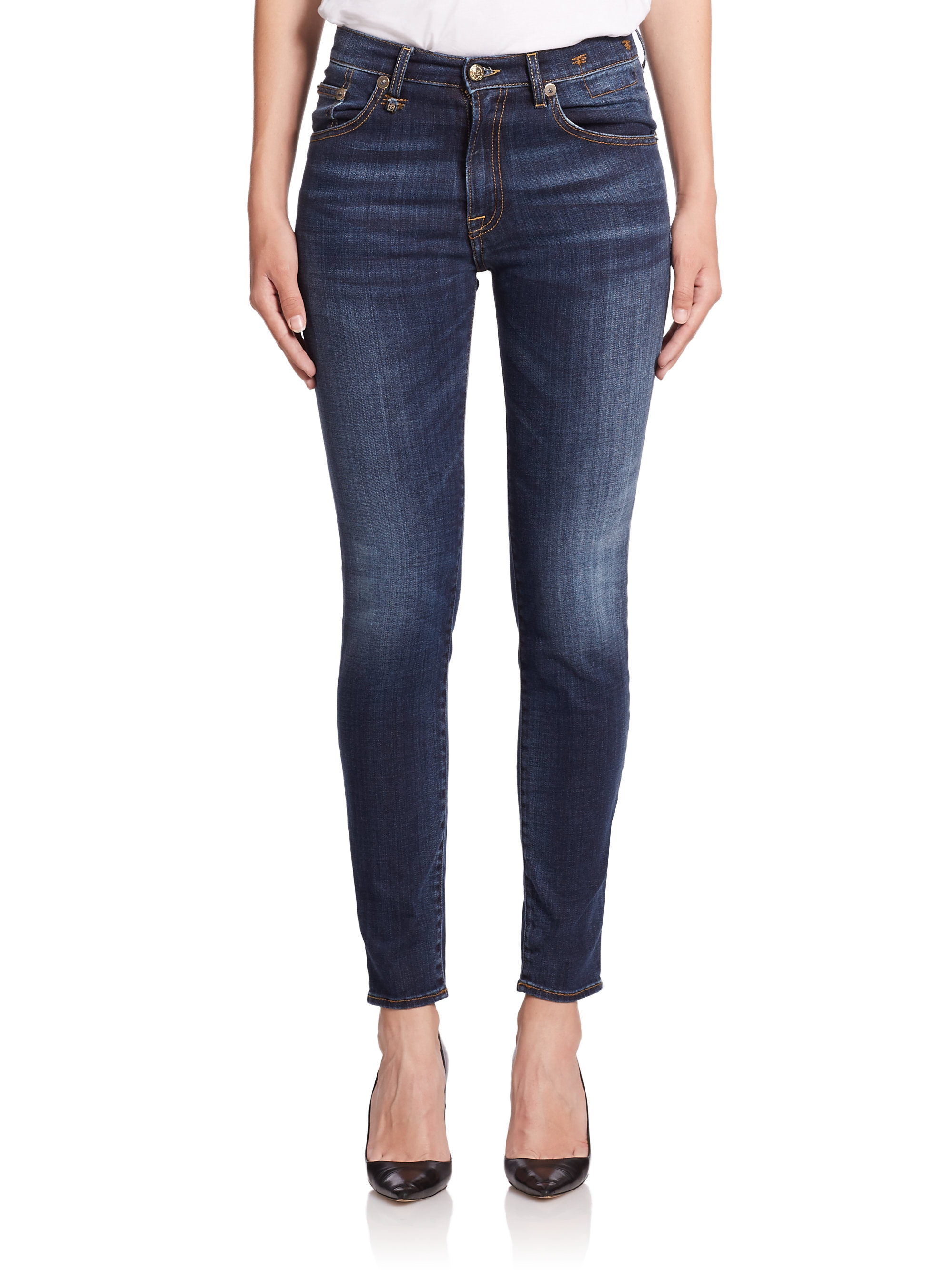 high waisted cropped jeans - Blue R13 xPx0LwnF6c