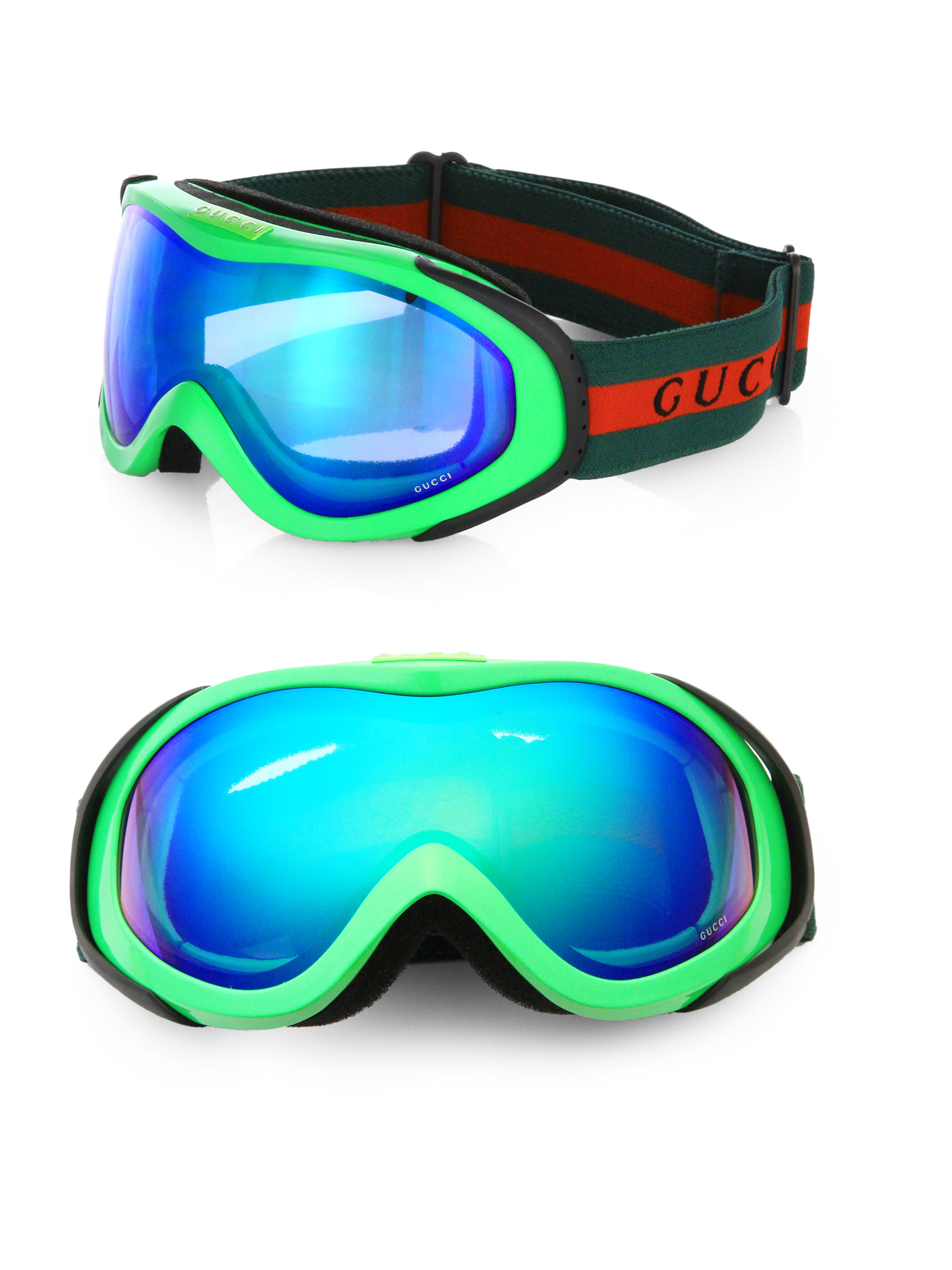 Gucci Mirrored Ski Goggles In Yellow For Men Lyst