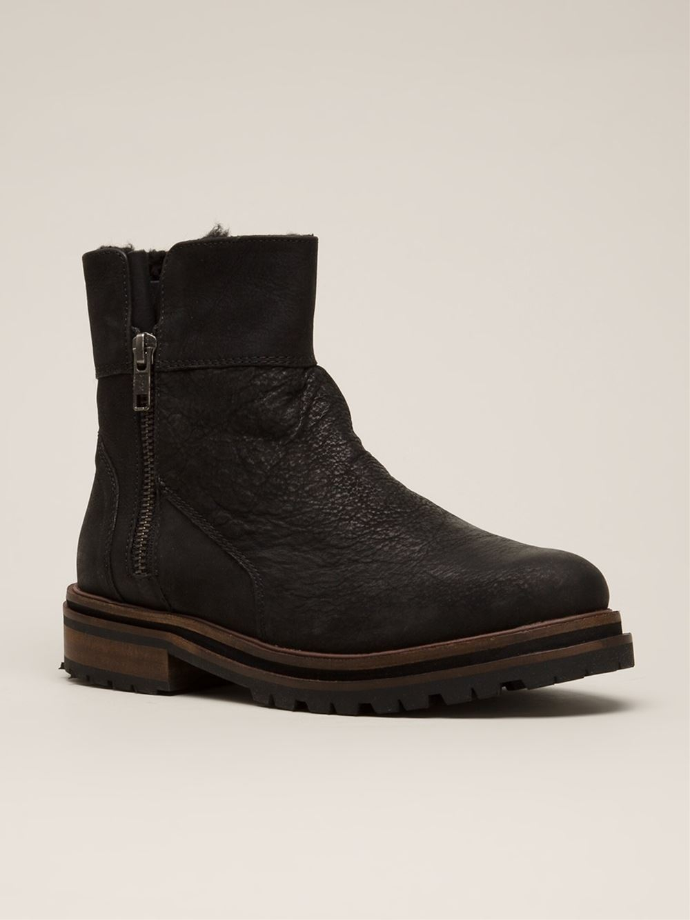 h by hudson askern boots in black lyst