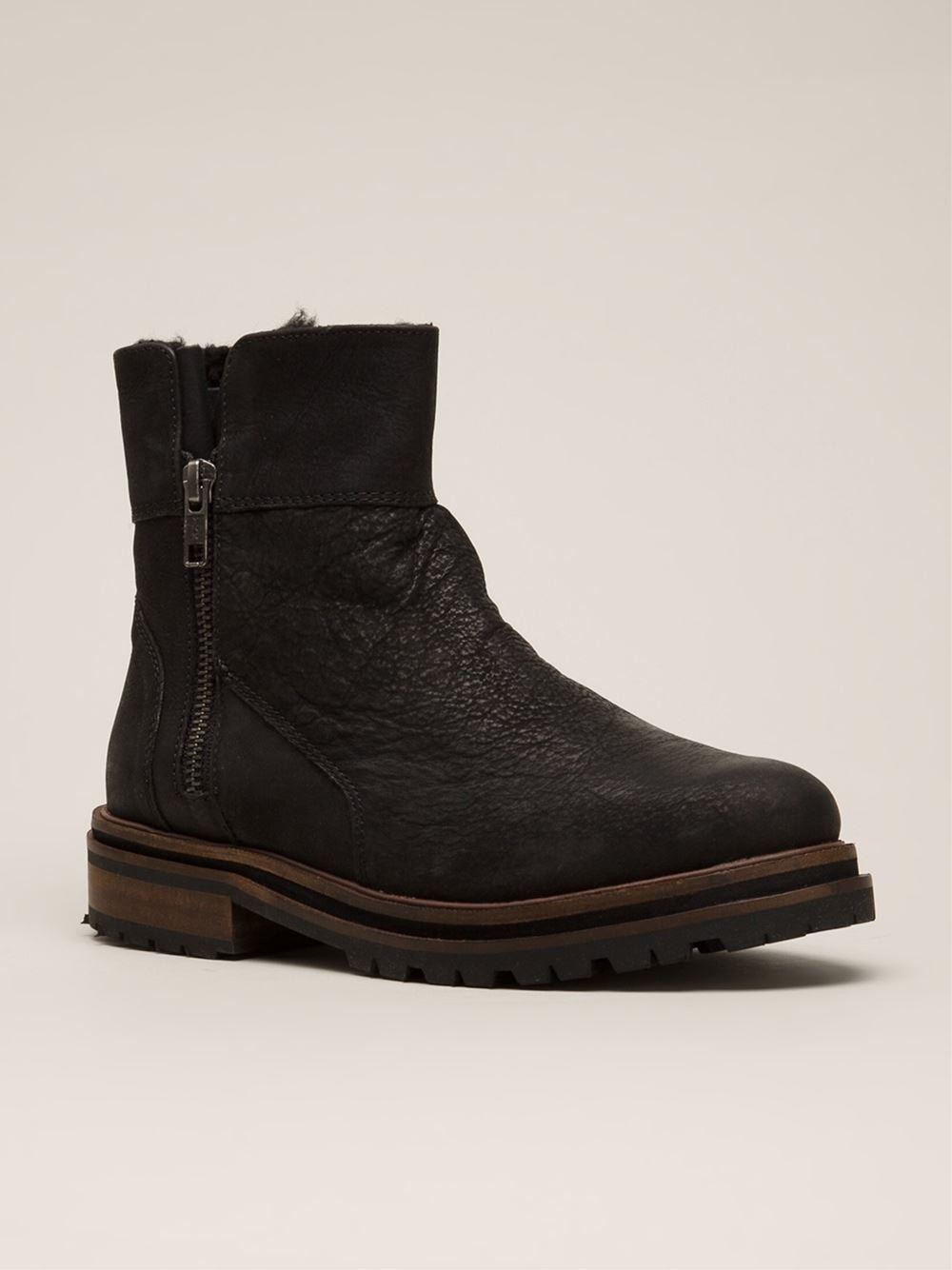 h by hudson 39 askern 39 boots in black lyst. Black Bedroom Furniture Sets. Home Design Ideas