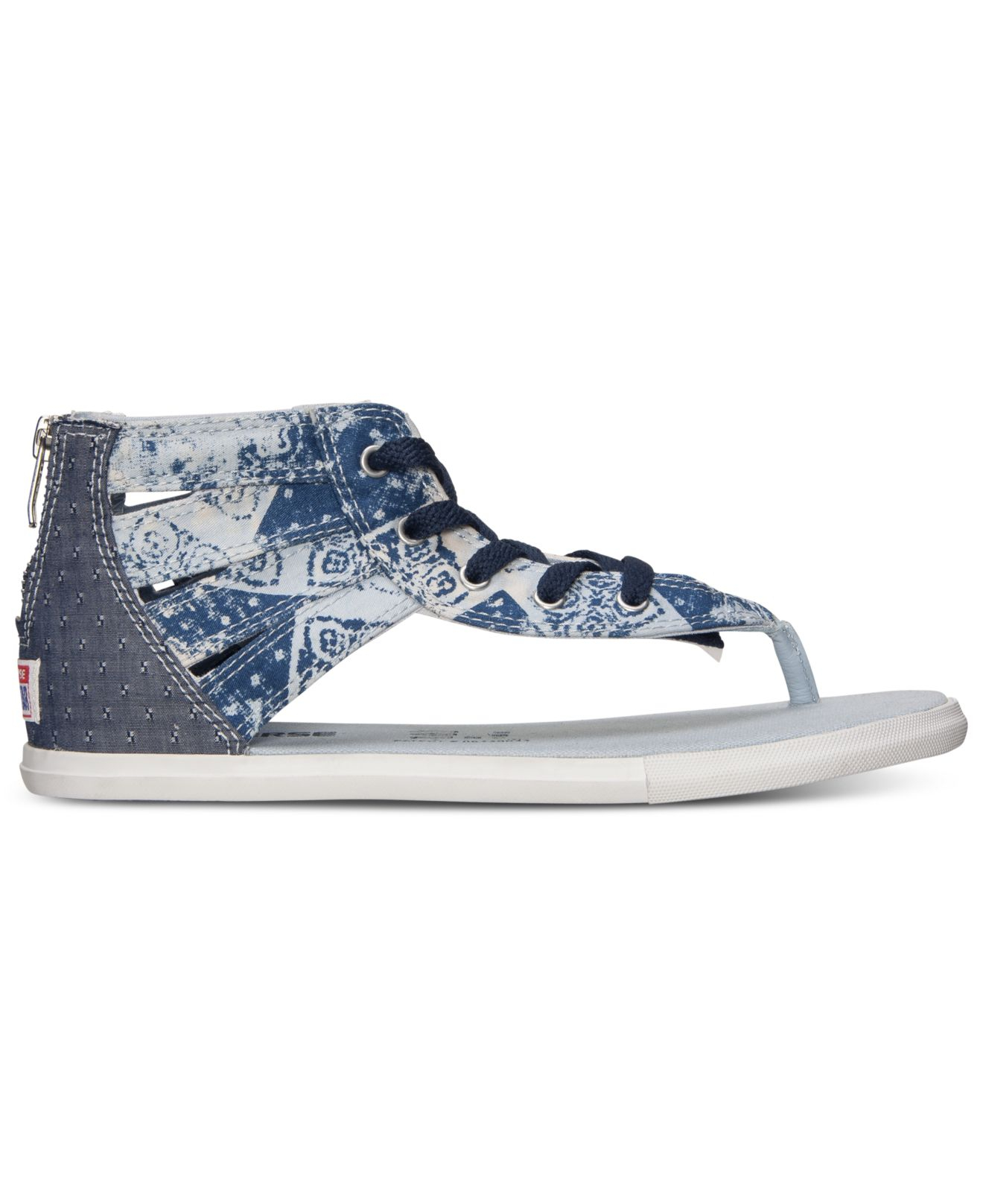 f716292278d8 ... best price lyst converse womens chuck taylor gladiator thong sandals  from 70fee aceba