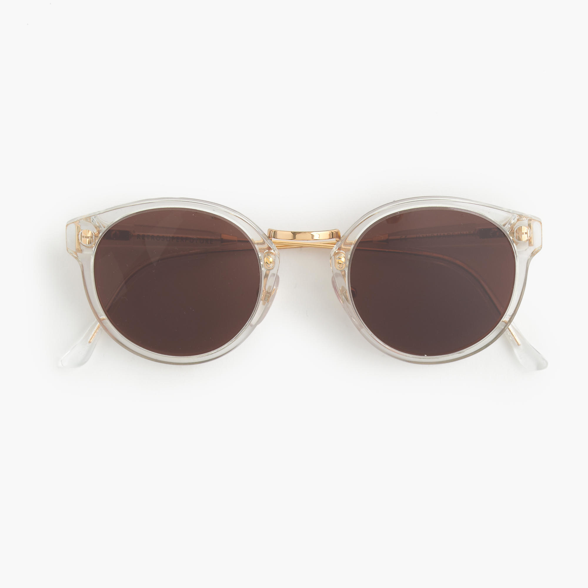 Clear Frame Glasses Retro : J.crew Super Retro Sunglasses With Clear Frame in Brown Lyst