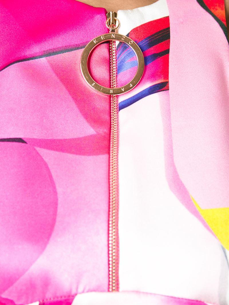 2341550aa Lyst - KENZO  Paper  Maxi Dress in Pink