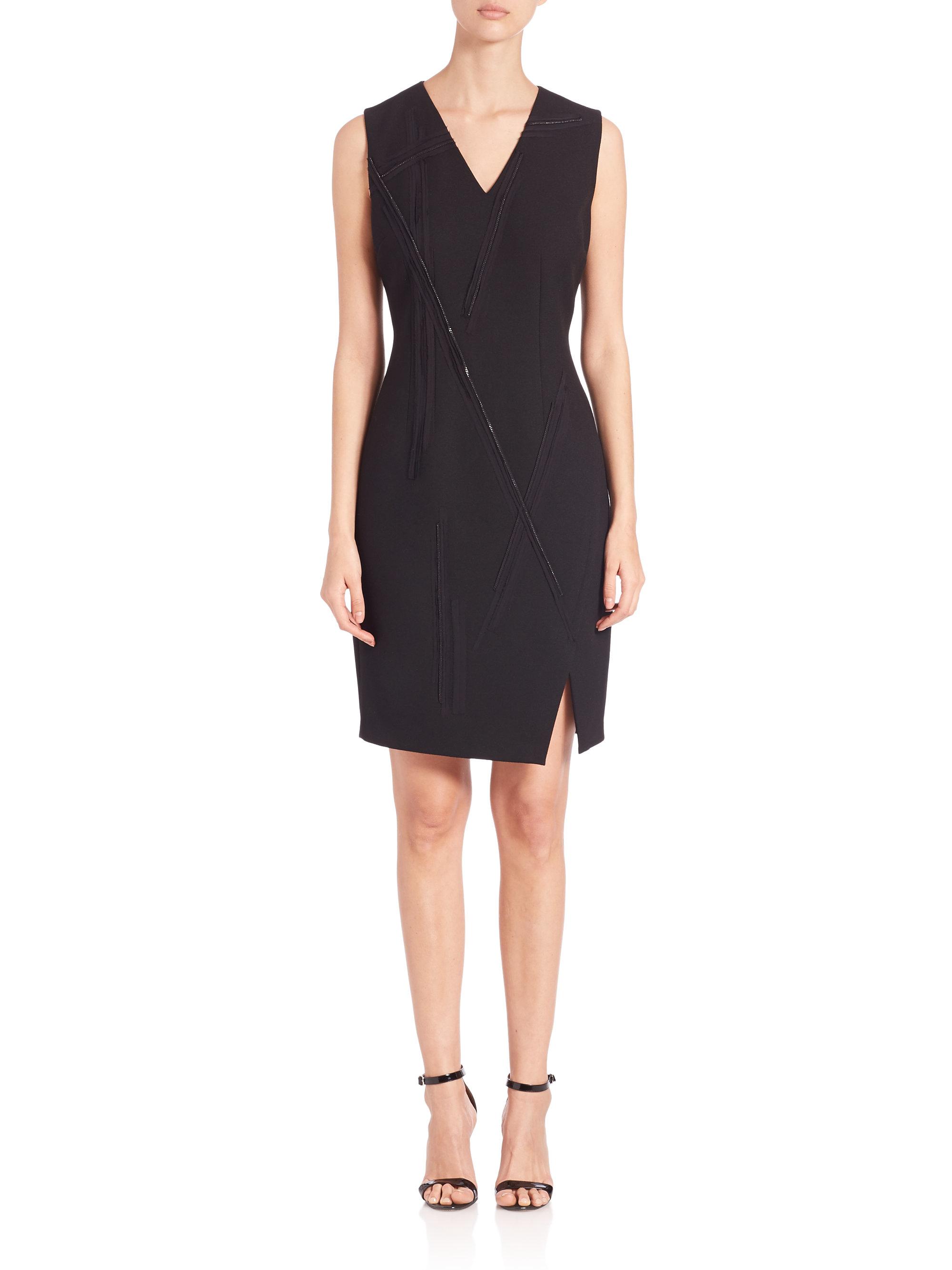 5fd042264caf Elie Tahari Gwenyth Dress in Black - Lyst