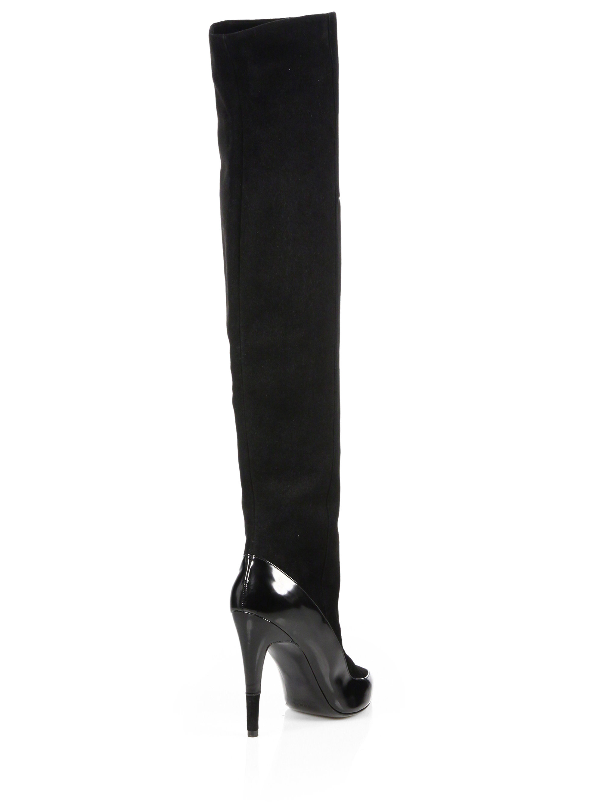 Pierre Hardy Suede Knee-High Boots sale cheap 7DSluUpQT