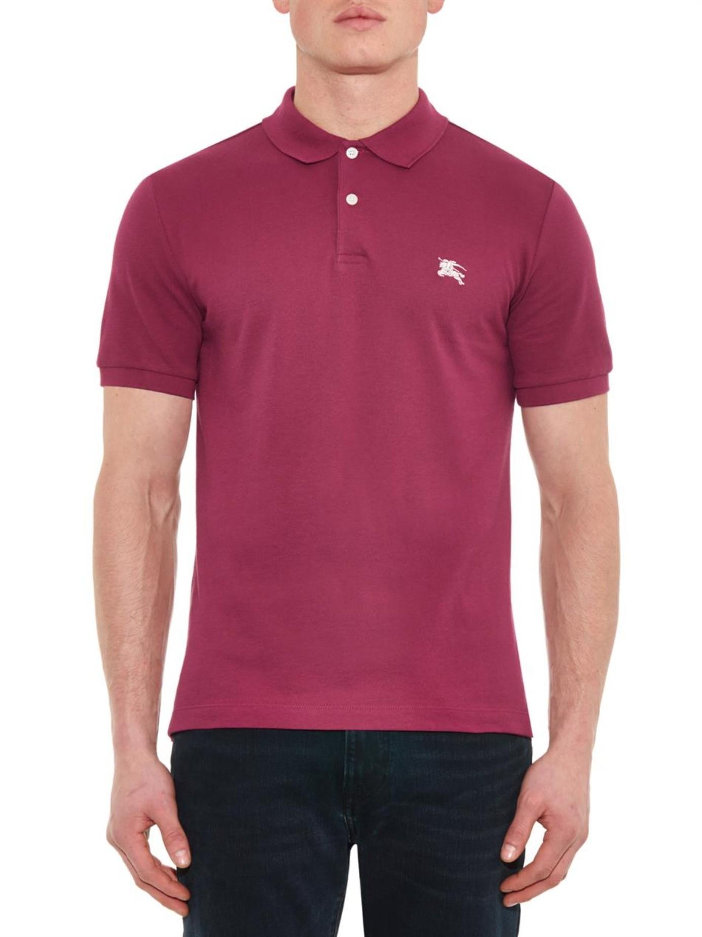 Lyst - Burberry Brit Classic Cotton-Piqué Polo Shirt in Pink for Men bdf0c6df4a8