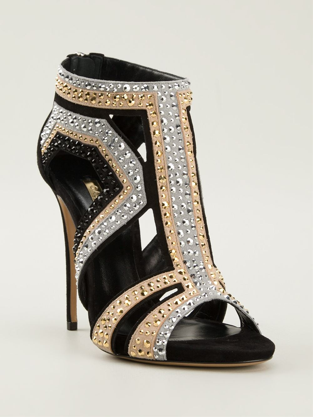 Lyst Casadei Evening Crystal Embellished Sandals In