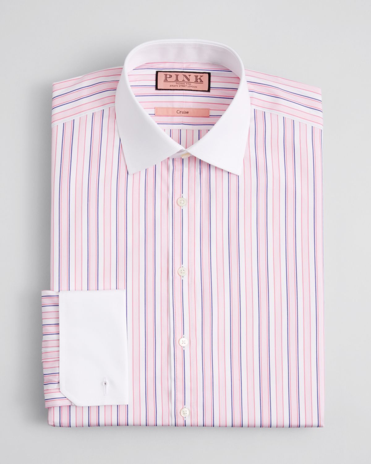 Thomas pink Ceulen Stripe Dress Shirt - Regular Fit in White for ...