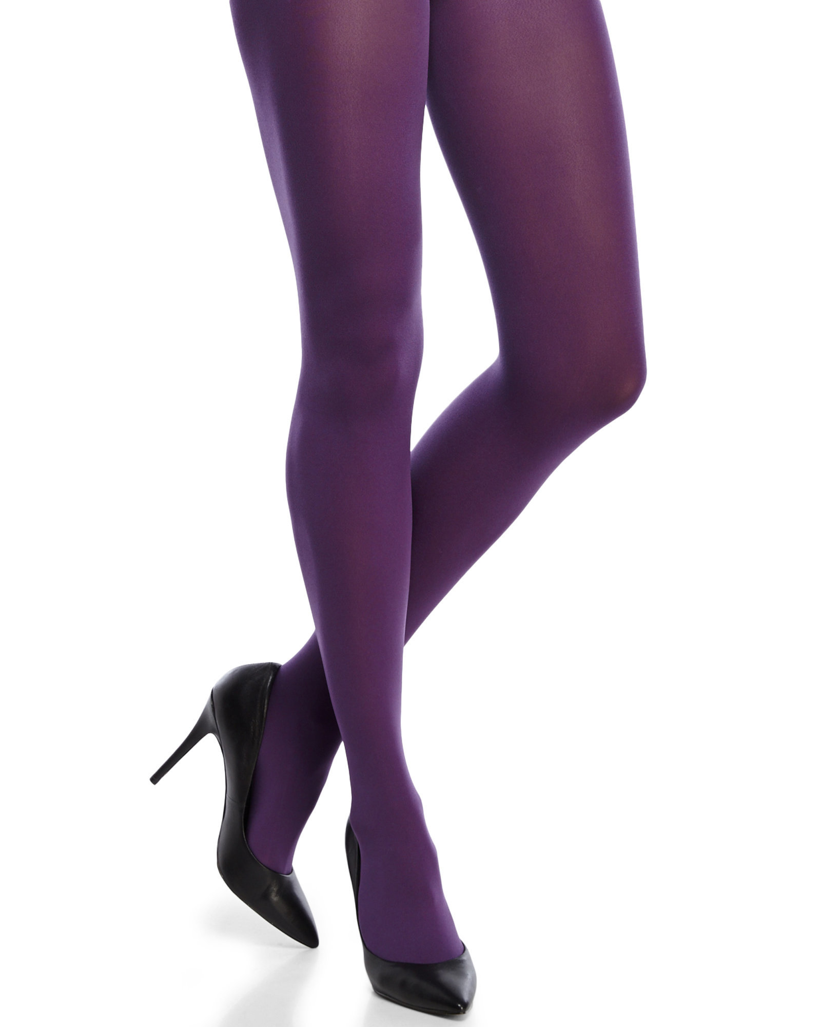 8c6ac4fcb Hue Ultimate Opaque Control Top Tights in Purple - Lyst