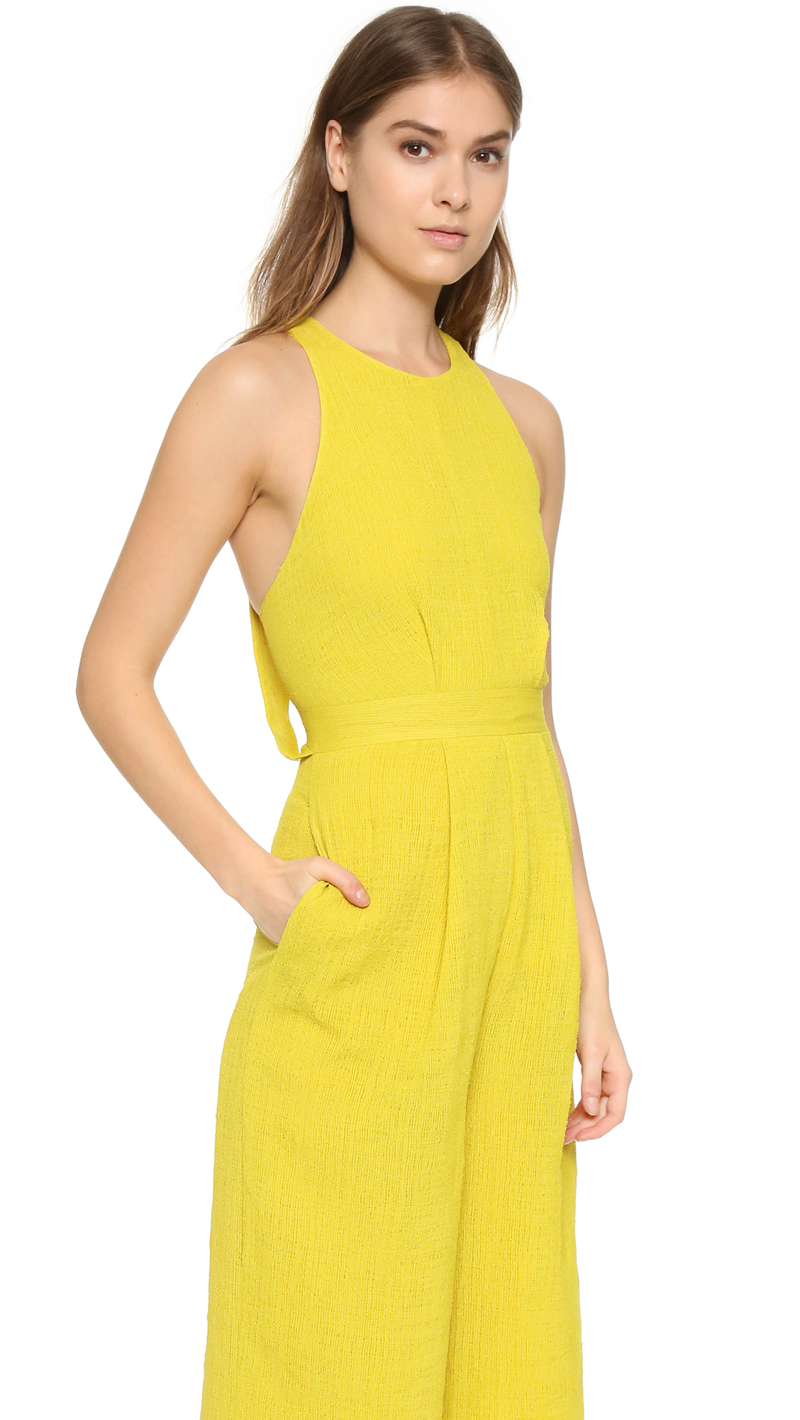 Whistles Cecilia Jumpsuit in Yellow | Lyst