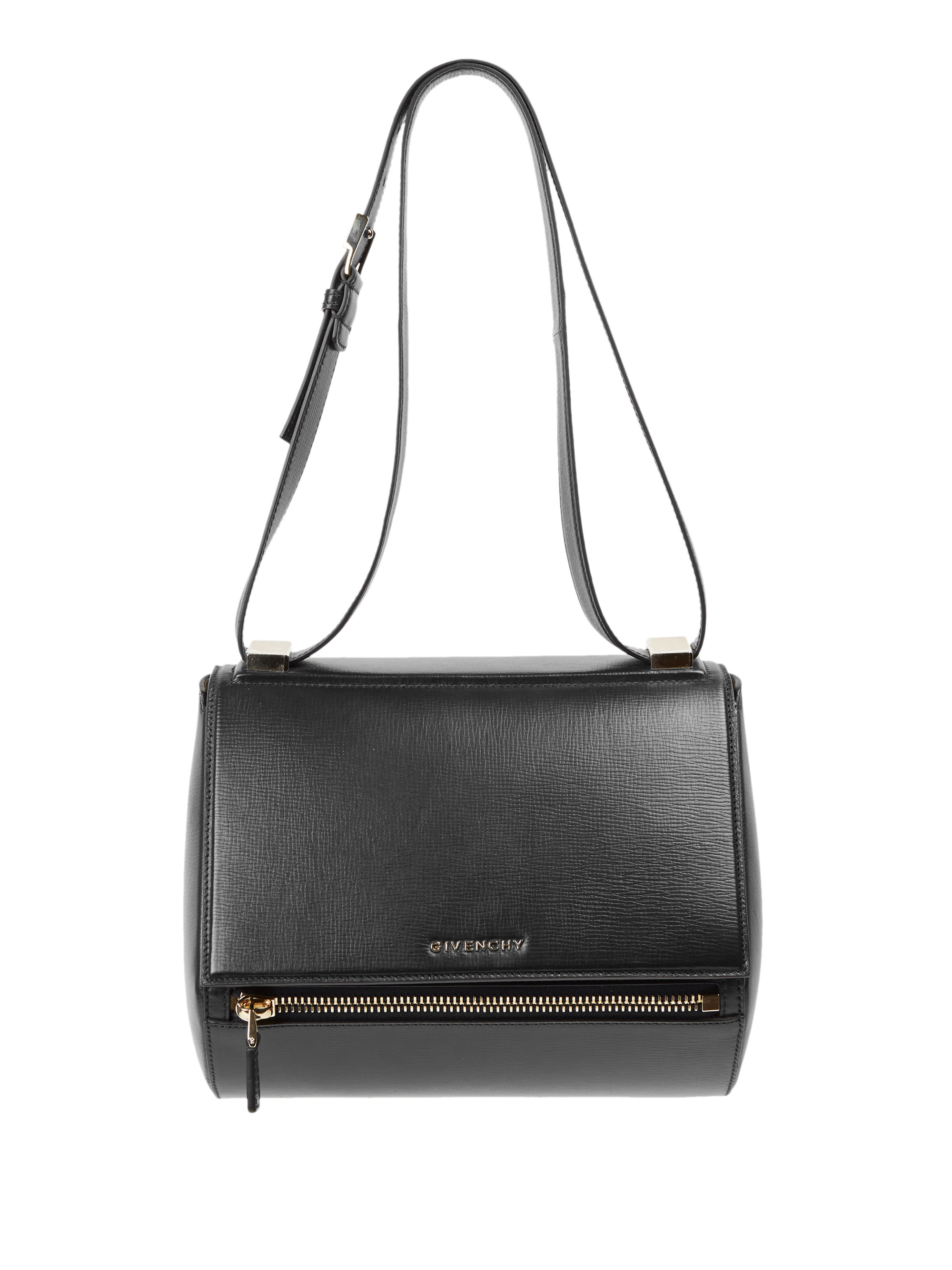 givenchy pandora box medium textured leather crossbody bag in black