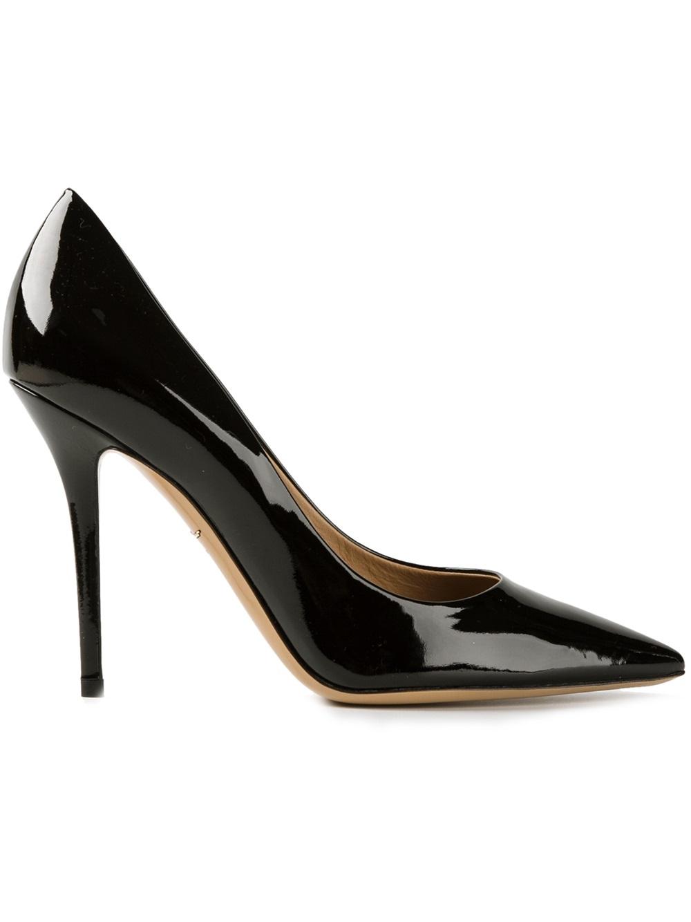 Black Patent Ferragamo Shoes