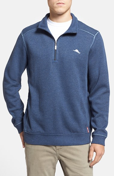 Tommy bahama 'antigua Cove' Half Zip Pullover in Blue for Men | Lyst