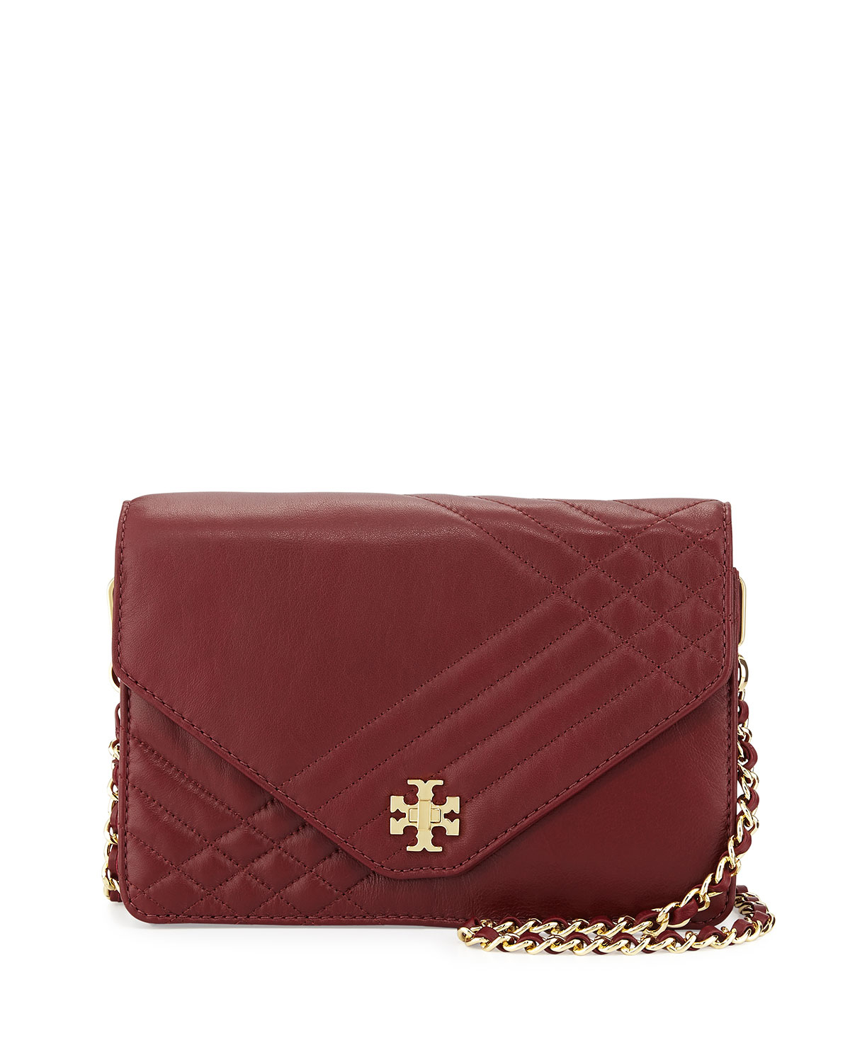 Tory Burch Kira Quilted Crossbody Bag In Red Lyst