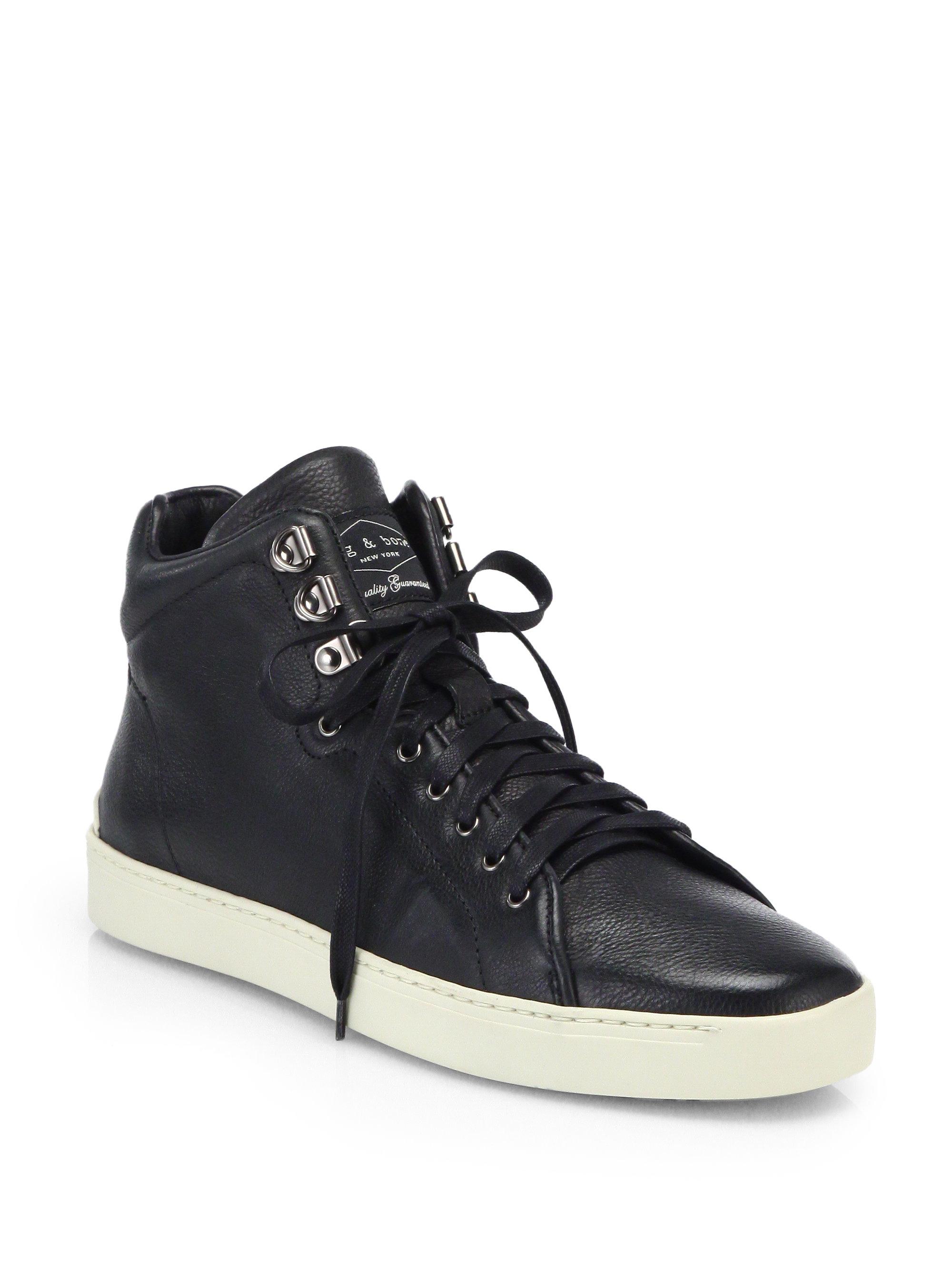 ebay cheap price online cheap price Rag & Bone Leather High-Top Sneakers w/ Tags original sale online authentic sale online cheap sale latest ASrcT