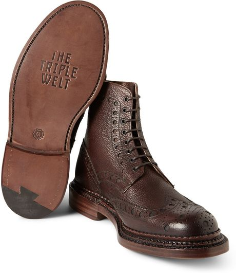 Brogues Boots Sale Brogue Boots in Brown For