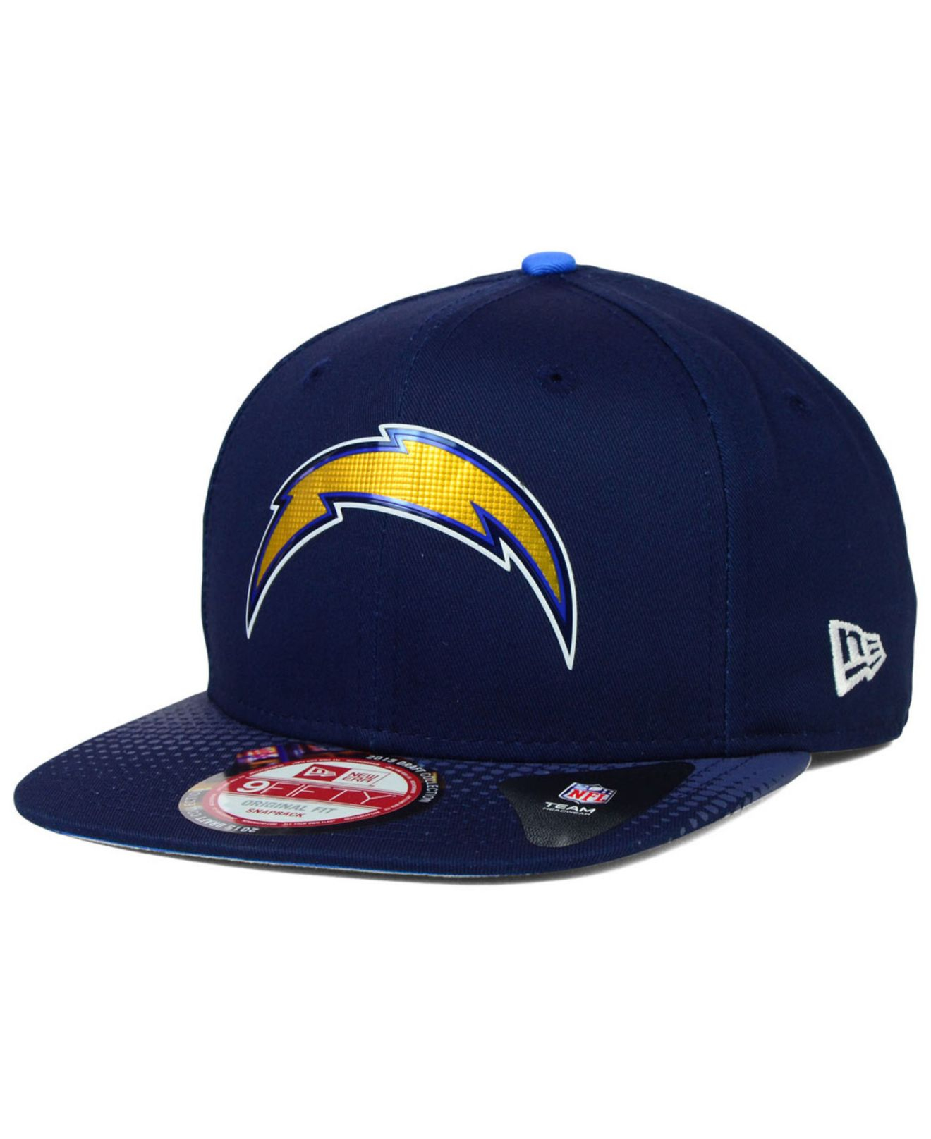 reputable site f6166 7472e Lyst - KTZ San Diego Chargers 2015 Nfl Draft 9fifty Snapback Cap in ...