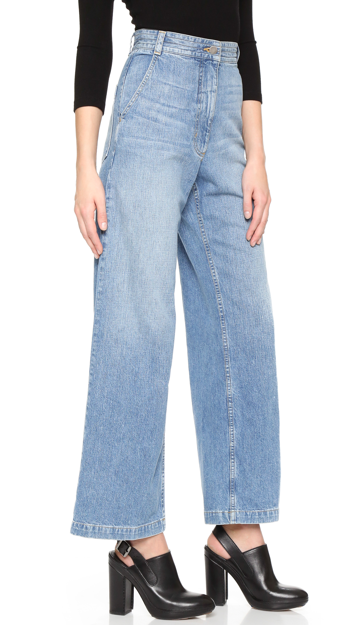DENIM - Denim trousers Rachel Comey Buy Cheap Fast Delivery Clearance New Arrival Shop For Clearance Big Discount vZINg1
