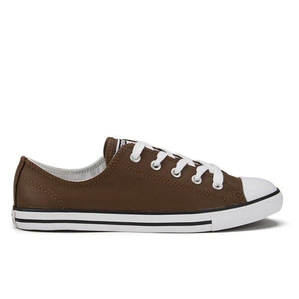 Converse - Brown Women s Chuck Taylor All Star Dainty Seasonal Leather Ox  Trainers - Lyst c06d2a7da